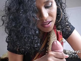 Horny Lily Giving Her Indian Cousin A Good Morning Wake Up Blowjob Swallow Cumshot