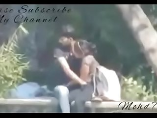 Indian couples fingering and blowjob in park